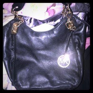 authentic michale kors(MK) leatee hobo bag